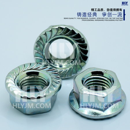 六角法兰螺母 Hexagon nuts with flange